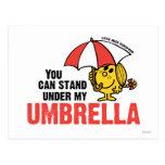 Usted puede colocarse debajo de mi paraguas tarjeta postal