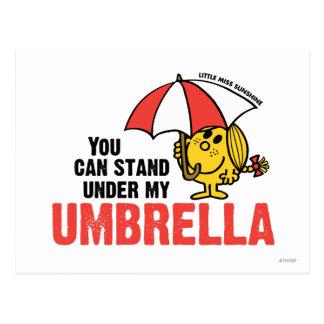 Usted puede colocarse debajo de mi paraguas tarjetas postales