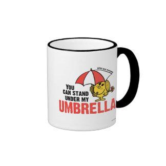 Usted puede colocarse debajo de mi paraguas tazas de café