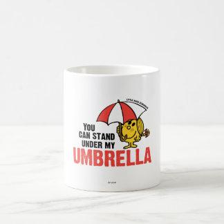 Usted puede colocarse debajo de mi paraguas taza de café