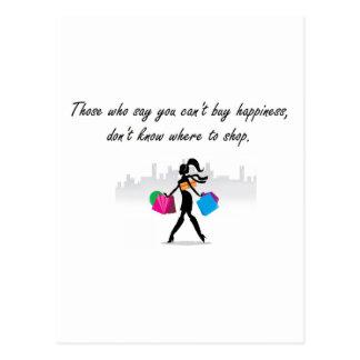 Usted puede comprar felicidad tarjetas postales