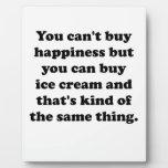 Usted puede comprar helado placas de plastico