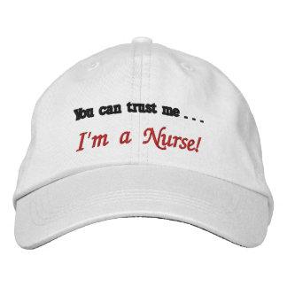 Usted puede confiarme en…. ¡Soy enfermera! Gorra De Beisbol Bordada