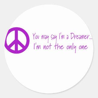 Usted puede decir que soy un soñador pegatina redonda