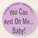 Usted puede descansar sobre mí… a Lt del bebé. Prá Posavasos Cerveza