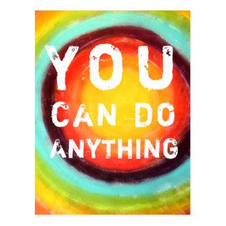 Usted puede hacer cualquier cosa de motivación tarjetas postales