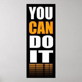 Usted puede hacerlo (anaranjado) de motivación impresiones