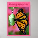 Usted puede hacerlo mariposa de monarca póster