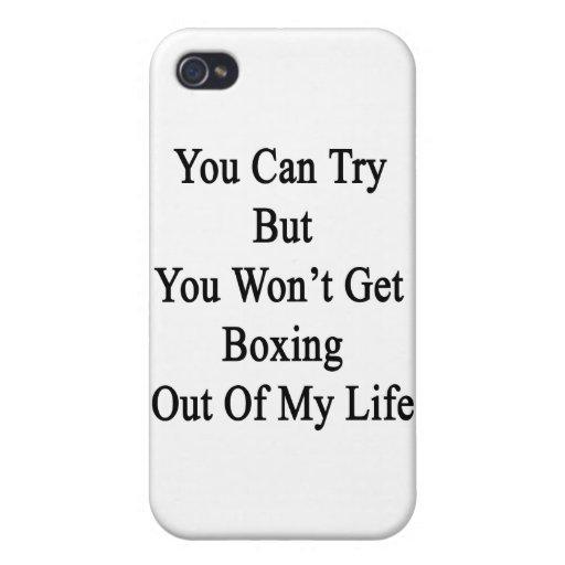 Usted puede intentar pero usted no saldrá el boxeo iPhone 4 fundas