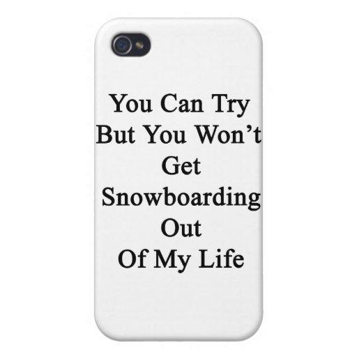 Usted puede intentar pero usted no saldrá snowboar iPhone 4 protectores