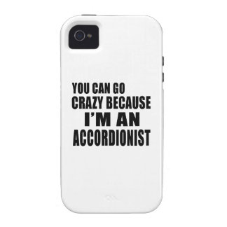 USTED PUEDE IR LOCO yo es ACORDEONISTA Case-Mate iPhone 4 Carcasa