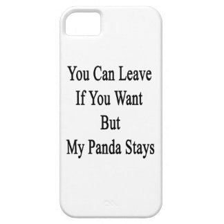 Usted puede irse si usted quiere solamente mis est iPhone 5 Case-Mate protector