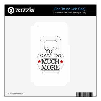 Usted puede mucho a más de motivación iPod touch 4G calcomanías
