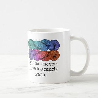 Usted puede nunca tener demasiado hacer punto taza de café