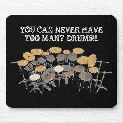 ¡Usted puede nunca tener demasiados tambores! Mousepads