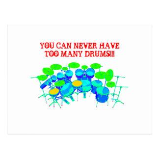 ¡Usted puede nunca tener demasiados tambores! Postal