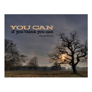 Usted puede postal de motivación