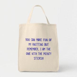 Usted puede reírse de mi hacer punto sino recordar bolsa tela para la compra