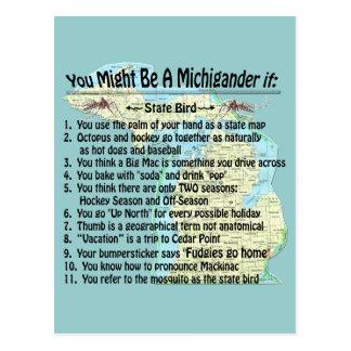 Usted puede ser que sea un Michigander si: Postales
