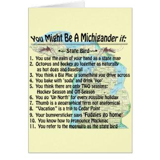 Usted puede ser que sea un Michigander si: Felicitación