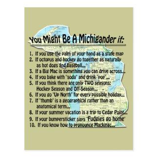Usted puede ser que sea un Michigander si: Tarjetas Postales
