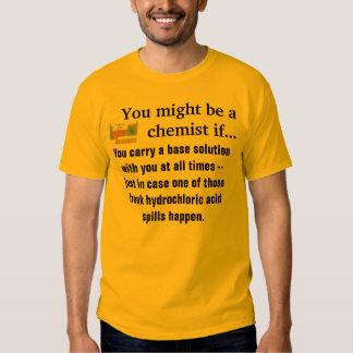 Usted puede ser que sea una camisa #3 del químico