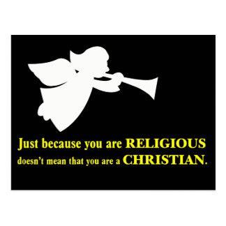 Usted puede ser religioso pero usted no es un postal