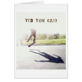¡usted puede sí! tarjeta pequeña