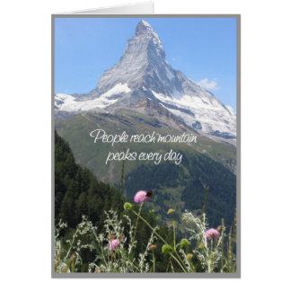 Usted puede subir su montaña - tarjeta del estímul