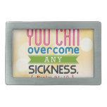 Usted puede superar cualquier enfermedad hebilla cinturón rectangular