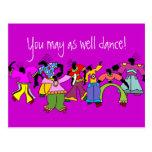 ¡Usted puede también bailar! Postal