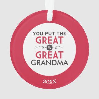 Usted puso el grande en gran abuela