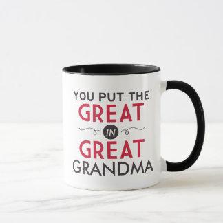 Usted puso el grande en gran abuela taza