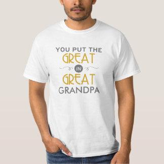 Usted puso el grande en gran abuelo remeras