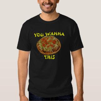 """Usted quiere a la """"pizza"""" esto remera"""
