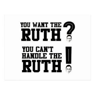 Usted quiere a la Ruth - usted no puede manejar la Tarjeta Postal