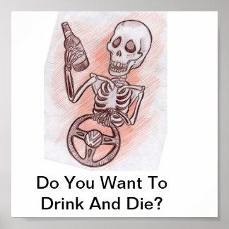 ¿Usted quiere beber y morir? Póster