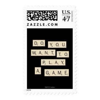 Usted quiere jugar a un juego estampillas