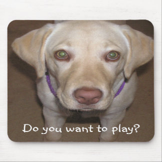 ¿Usted quiere jugar? Laboratorio amarillo Mousepad Tapetes De Raton
