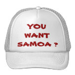 ¿USTED QUIERE SAMOA? GORROS