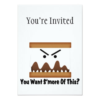 """¿Usted quiere S'more de esto? Invitación 5"""" X 7"""""""