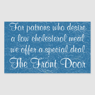 Usted quiere una comida baja del colesterol va a etiqueta