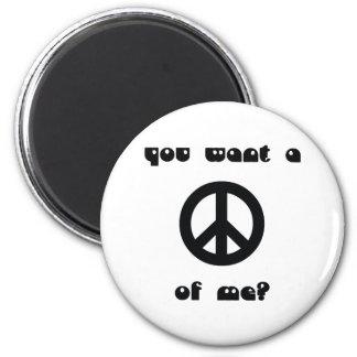 ¿Usted quiere una paz de mí? Imán