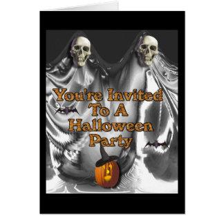Usted; re invitada a un fiesta de Halloween Tarjeta De Felicitación