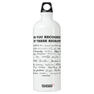 ¿Usted reconoce ninguno de estos firmas? Botella De Agua