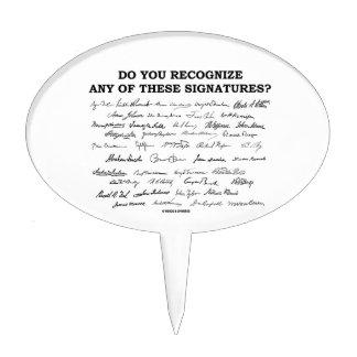 ¿Usted reconoce ninguno de estos firmas? Decoración De Tarta