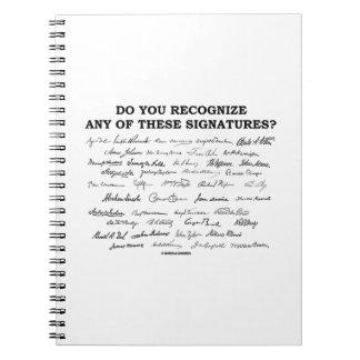 ¿Usted reconoce ninguno de estos firmas? Libros De Apuntes Con Espiral