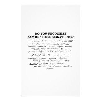¿Usted reconoce ninguno de estos firmas? Personalized Stationery