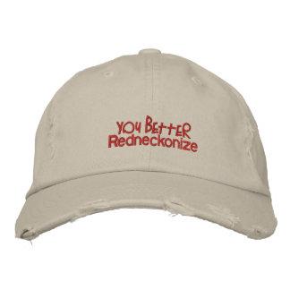 usted redneckonize mejor gorra bordada