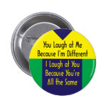 Usted ríe porque soy diferente yo río el 'cuz igua pins
